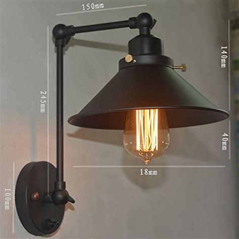kiven black vintage swing arm wall plug