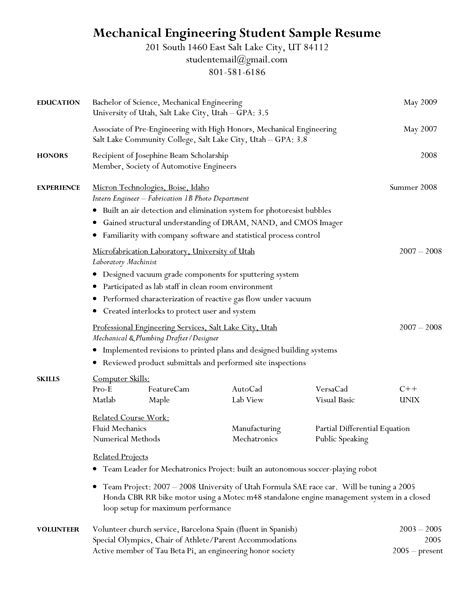 Resume For Enginering Student Format.html