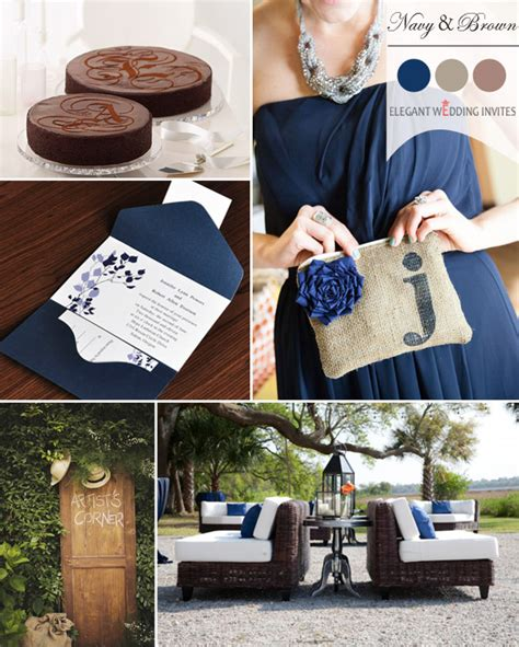 trending navy blue wedding color ideas fall 2014