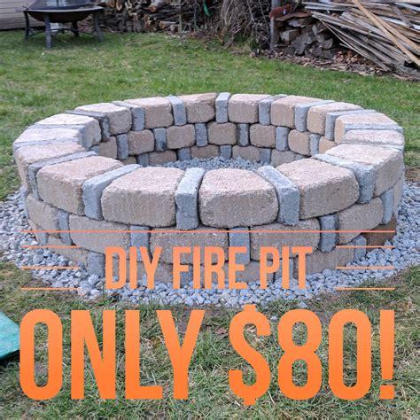 diy brick fire pit 80