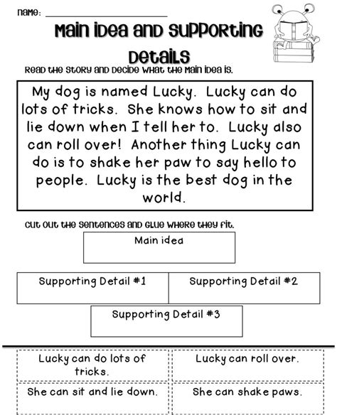 Main Idea And Supporting Details Worksheets For Grade 2.html