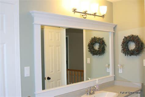 full great ideas framing builder grade mirror walls