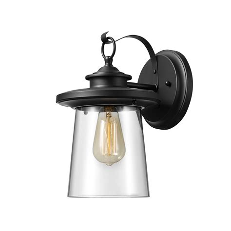 globe electric valmont 13 1 light black outdoor