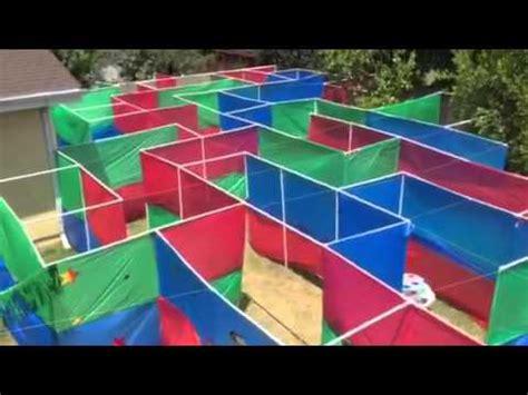 birthday booze backyard maze overhead view youtube