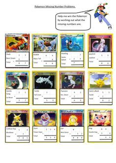 pokemon color number projects numbers