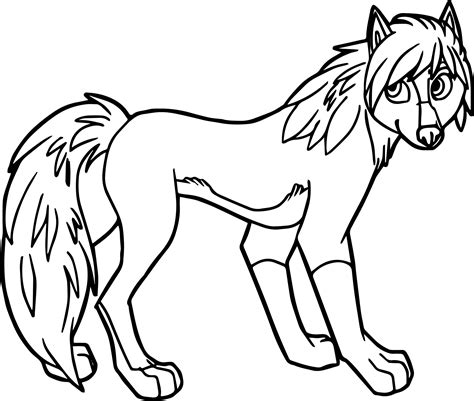 awesome alpha omega wolf girl coloring page wolf