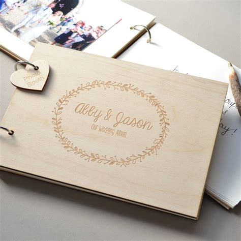 personalised wreath wedding guest book clouds currents notonthehighstreet