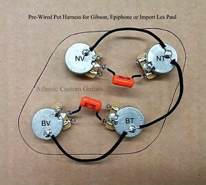 upgraded 50s style wiring harness fits les paul