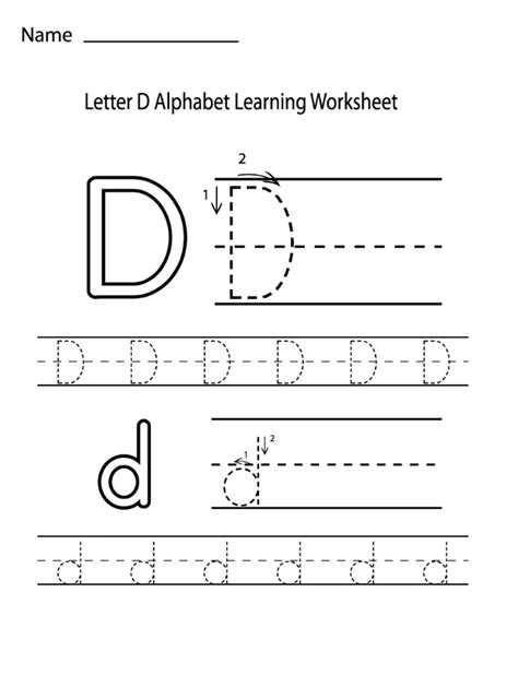 letter alphabet learning worksheet preschool crafts