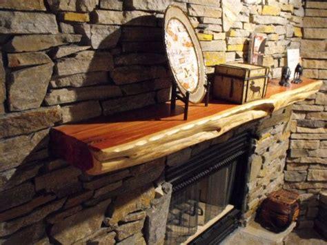 live edge red cedar fireplace mantels