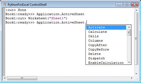 activesheet property vbalication