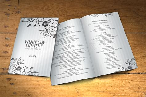 wedding program 2 sides template brochure templates creative