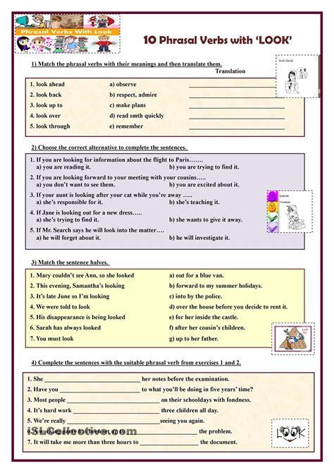 10 phrasal verbs phrasal verbs en ingles ejercicios