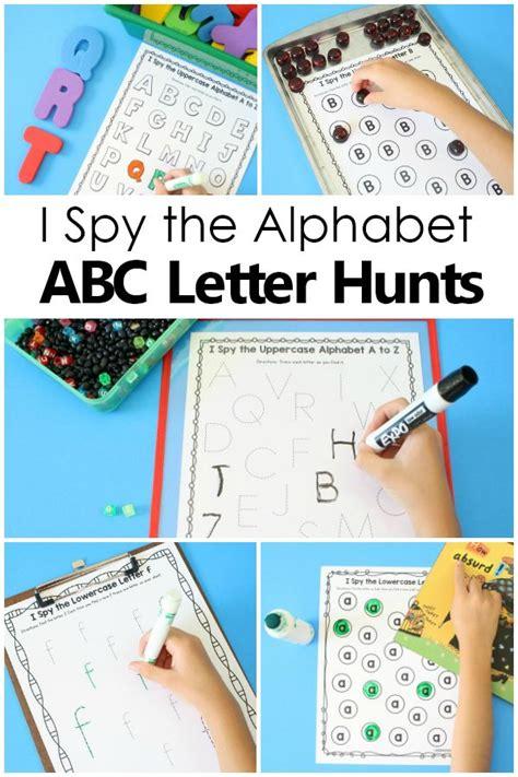 spy scavenger hunt abc games alphabet printables