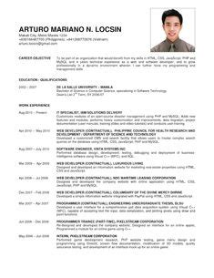 job resume copy
