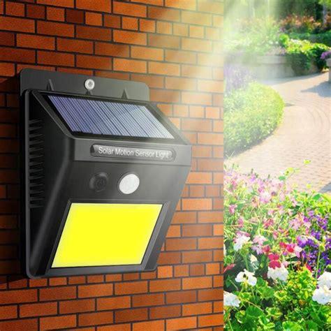 48 led solar light pir motion sensor wall