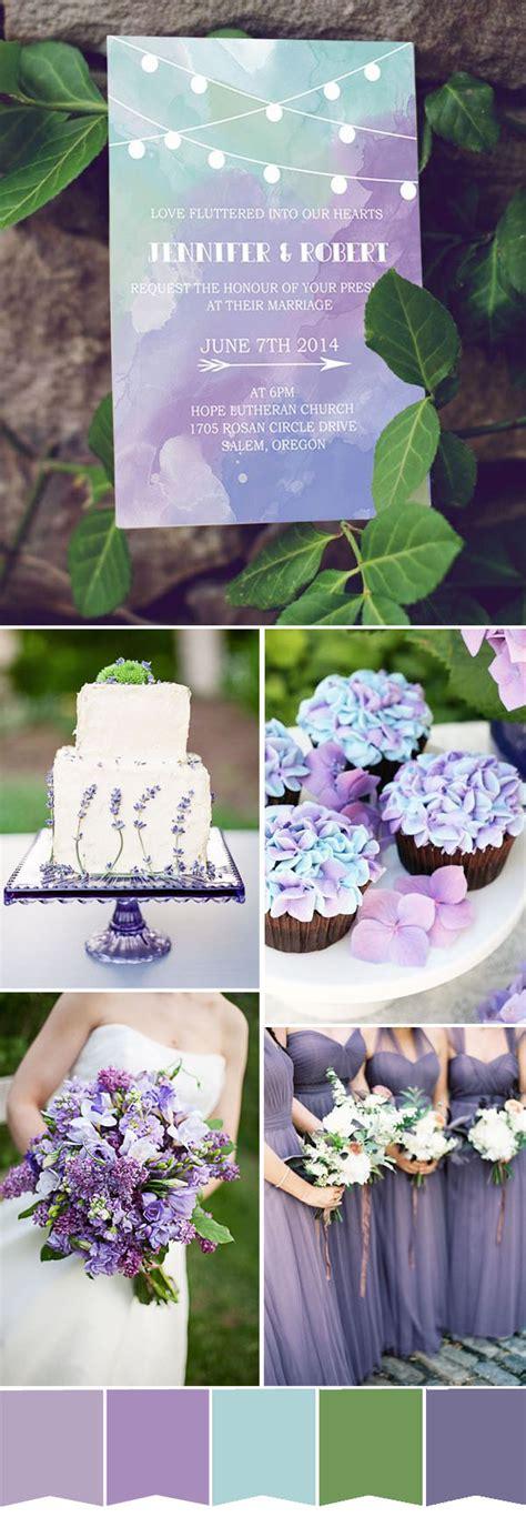 popular purple wedding color ideas wedding invitations