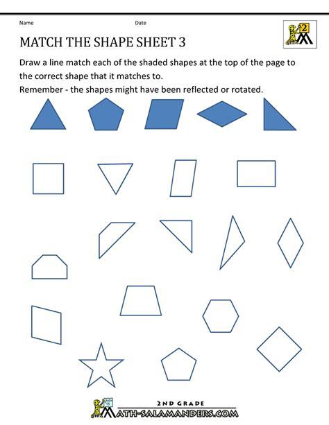 transformation geometry worksheets 2nd grade