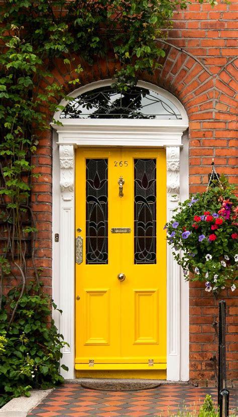 golden yellow door dublin ireland front door paint