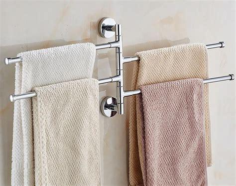 bath bathroom towel bar rack rotating hanger wall