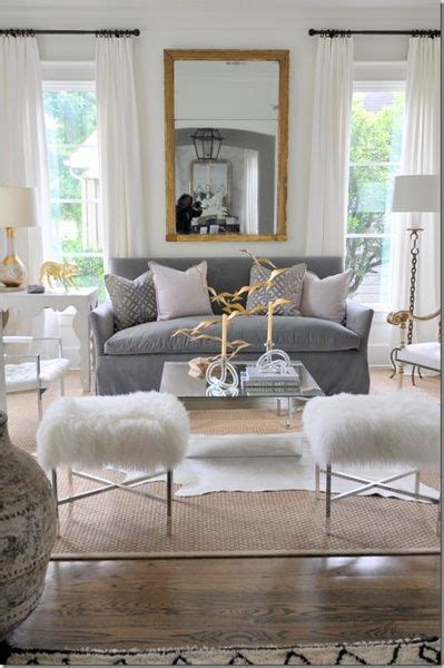 current obsession fur ottomans stools cozy stylish chic
