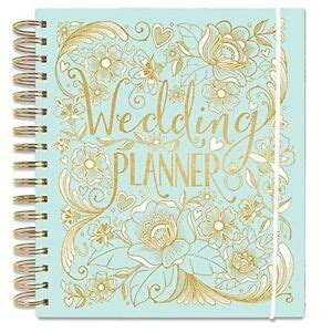 luxury wedding planner book duck egg blue diary