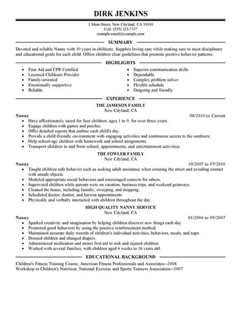 Resume Format For A Nany.html