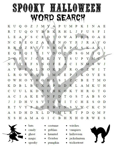 26 spooky halloween word searches kittybabylove