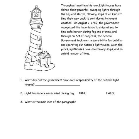 reading comprehension worksheets grade 3 comprehension worksheets sles