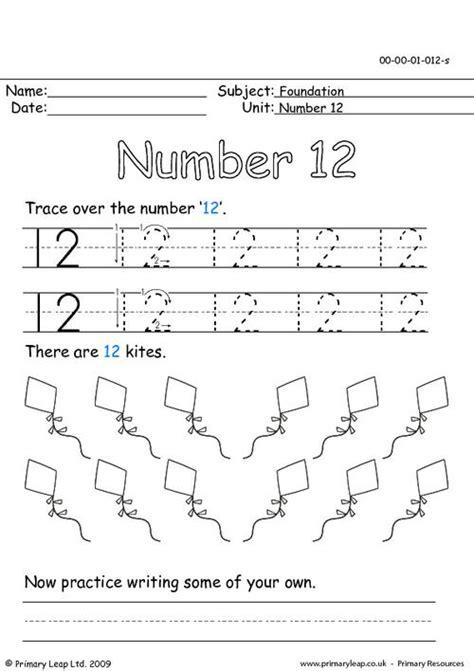 14 images number 12 tracing worksheet preschoolers number