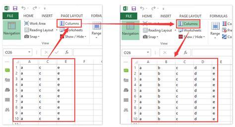 limit number rows columns worksheet excel