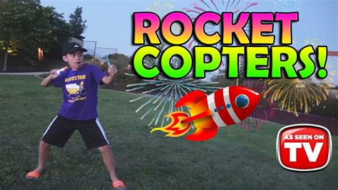 rocket copters night backyard fireworks youtube
