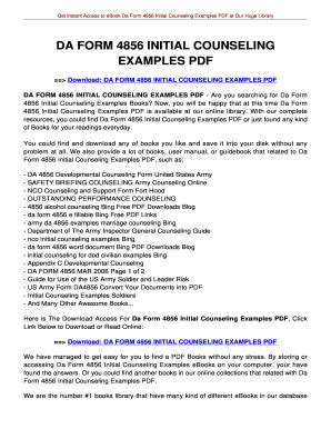 4856 initial counseling form fill online printable fillable