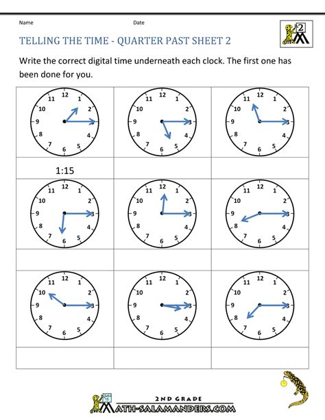 Math Worksheet For Grade 2 Time.html