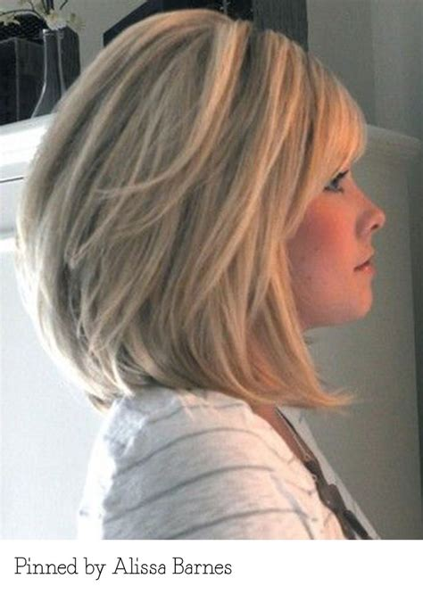 long layered bob bangs pinned alissa barnes recreate
