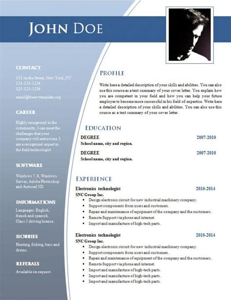 cv templates free download word document shatterlionfo