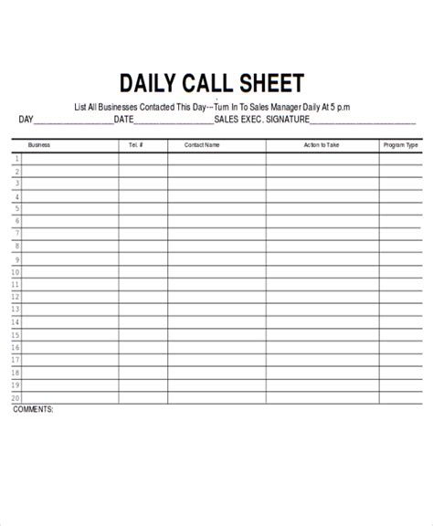 11 sales sheet templates free sle format download