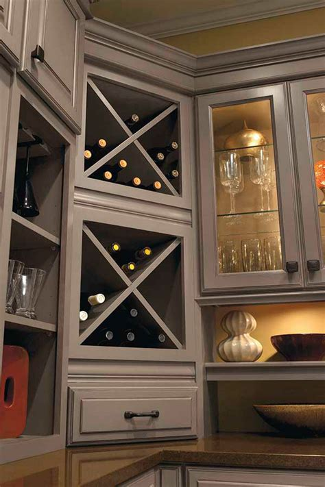 wine storage cabinet kemper cabinetry