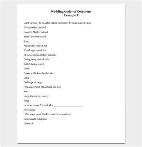 event program outline 13 printable sles exles formats