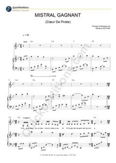 partition piano berceuse coeur de pirate pinterest pirates