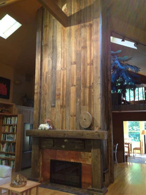 reclaimed wood fireplace veneer wood siding paneling