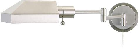 rectangular satin nickel plug swing arm wall