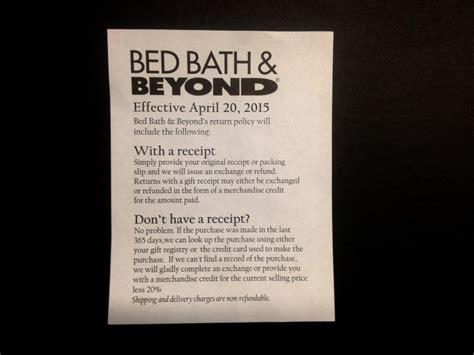 bed bath punish customers making returns receipts abc