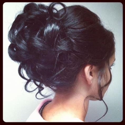 cute curly hair bun wedding hair pinterest