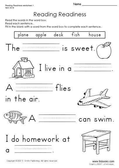 snapshot image reading readiness worksheet 1 grade worksheets