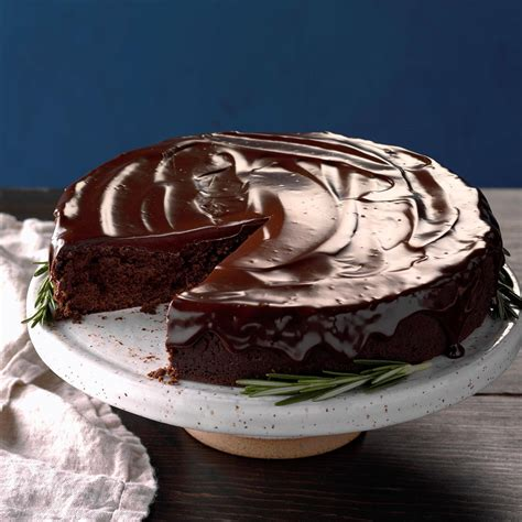 flourless chocolate cake rosemary ganache recipe taste home