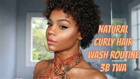 natural curly hair wash routine 3b twa youtube