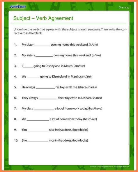 Worksheet Of Subject Verb Agreement For Grade 7.html