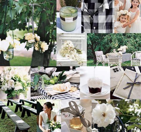 black white casual gingham gingham wedding garden wedding