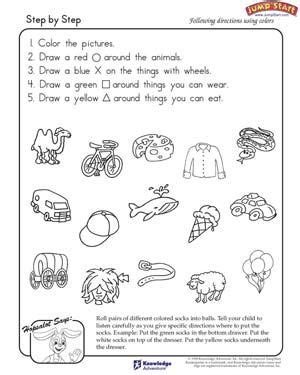 step step free critical thinking worksheet kids directions